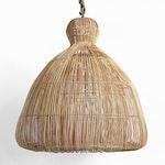 Rattan Mushroom Lantern Large