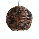 Rattan Globe Lantern Large
