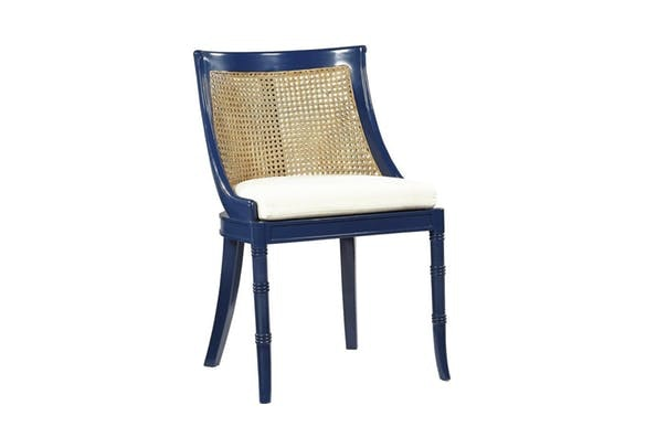 Spotlights on the Spoonback Side Chair in Navy Blue!