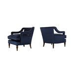 Pair of 1960's Modern Regency Style Lounge Chairs