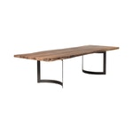 Natural Grain Industrial Dining Table