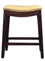 Leather Nail Barstool