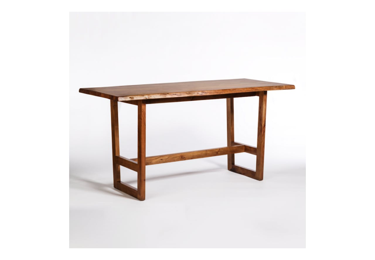 Aspen 72 Live Edge Gathering Table Absolute Design Interiors Boutique Furniture In Omaha Ne