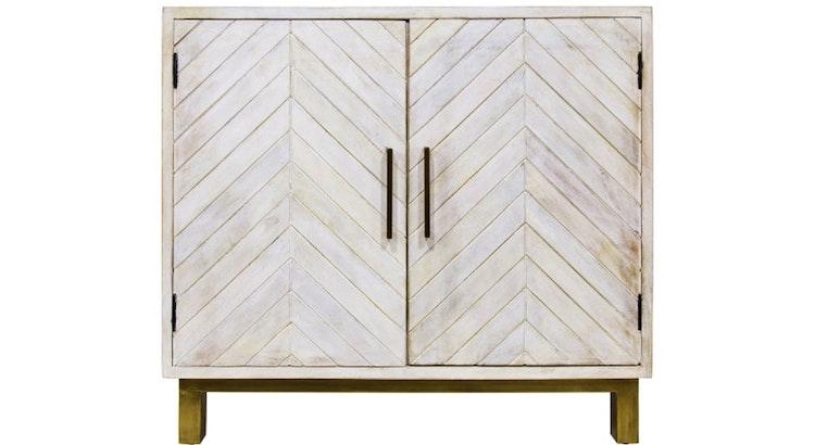 We Love The Herringbone Cabinet!