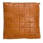 Camel Leather Floor Pillow