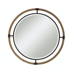 Round rope edge mirror
