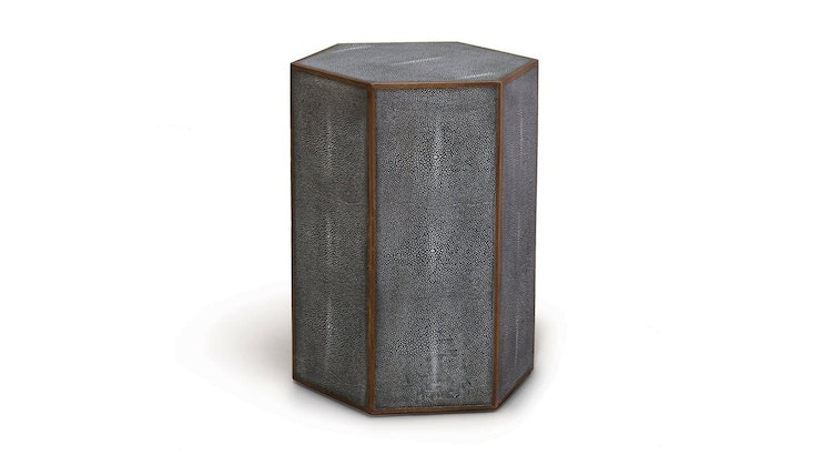 The Faux Shagreen Hex Side Table Is Our Pick Of The Week!