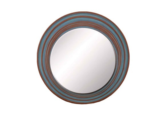 You Need the Our Dusty Blue Round Mirror!
