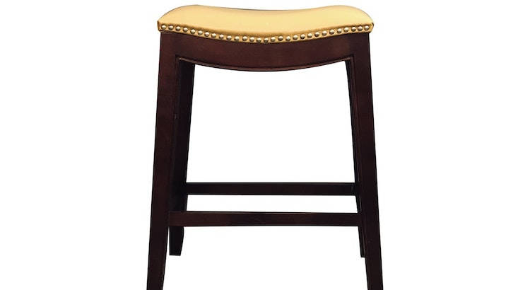 Bring Traditional Style To The Heart Of Your Home With The Leather Nail Barstool!