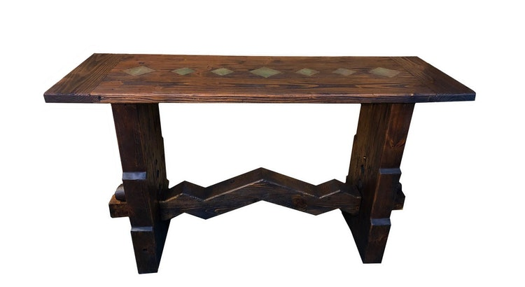 We Love the Wormy Wood Console Table!