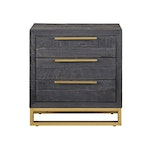 The Vogue 3 Drawer Nightstand In Black
