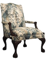 Carved Wood Occasional Chair