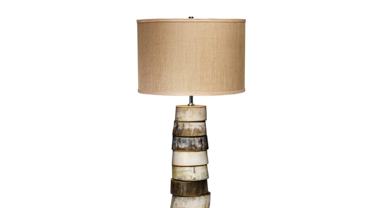 Our Stacked Horn Table Lamp Is Wonderful!