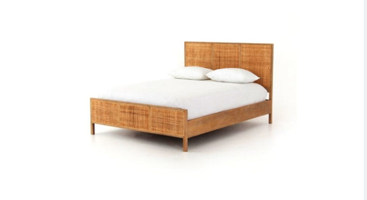 Our Woven Caned King Bed Is Stunning