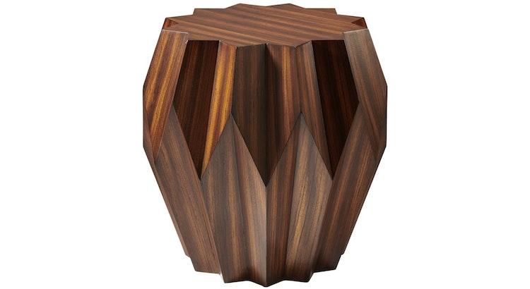 Say Hello To Our Origami Zebra Wood Star Shaped Accent Table