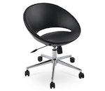 Crescent Office Chair, Chrome Plated Soloid Steel Base