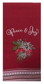 Joy And Peace Tea Towel
