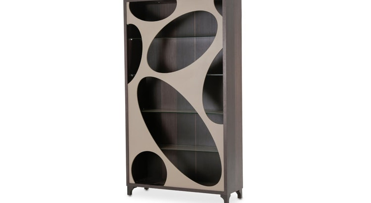 We Are Fascinated With The Cosmopolitan Taupe - Curio Center Cabinet!