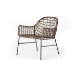 The Bryson Outdoor Woven Club Chair in Distressed Brown