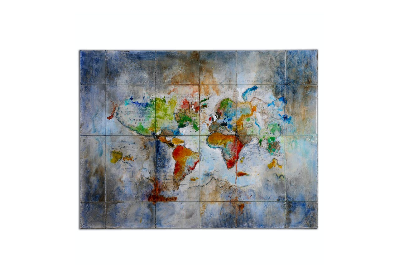 World Of Color Hand Painted Canvas Absolute Design Interiors Boutique Furniture In Omaha Ne