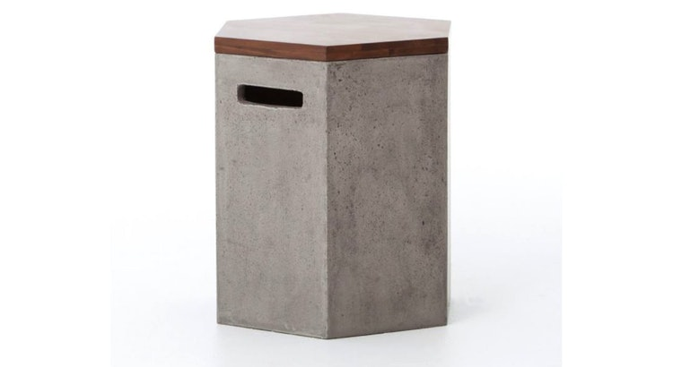 Say Hello To Our Concrete Side Table!