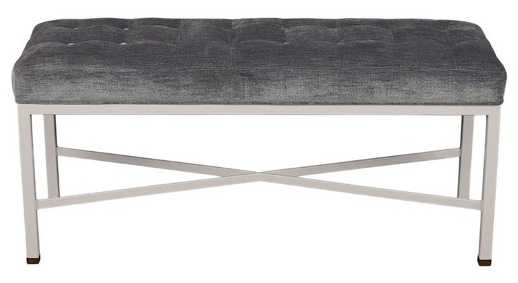 We Love This Modern Tufted Seat Bench!