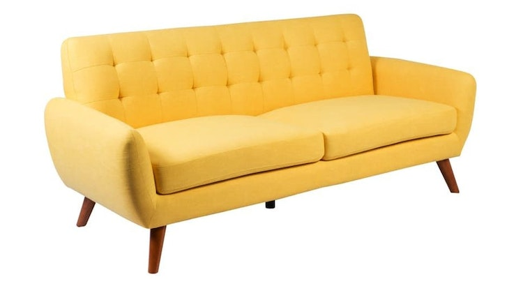 Bright and Cheery, That's The Daphne Yellow Sofa!