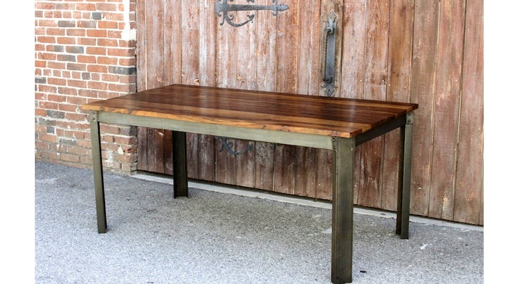 Say Hello To Our Industrial Teak Dining Table!