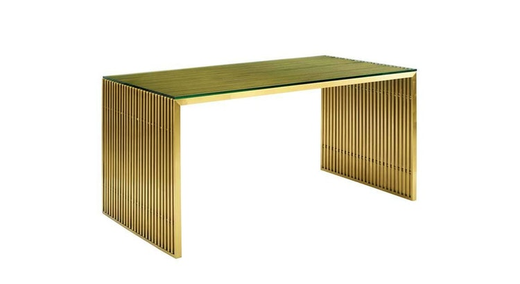 Introducing Our Modern Golden Steel Desk!