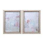 Barely There Contemporary Abstract Framed Prints, 2-Piece Set
