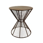 Iron Wire Hour Glass Side Table
