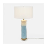 Soft Blue Ceramic Table Lamp