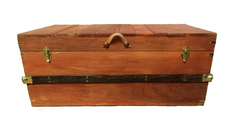 Introducing The Handmade Wooden Hope Chest in Chestnut Finish!