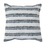 Block Print Sawtooth Stripe Throw Pillow