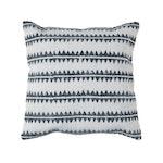 Block Print Sawtooth Stripe Throw Pillow