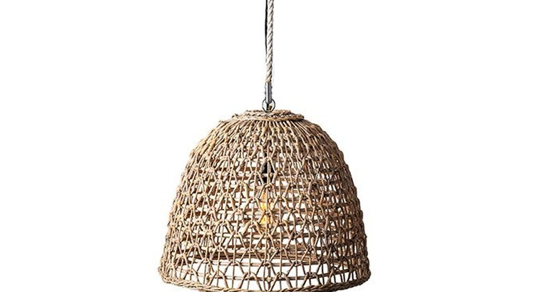 Can't Take Our Eyes Off on Our Woven Pendant Light
