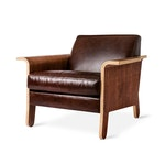 Lodge Chair Saddle Brown Leather