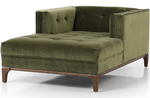 Darcy Chaise - Velvet Green