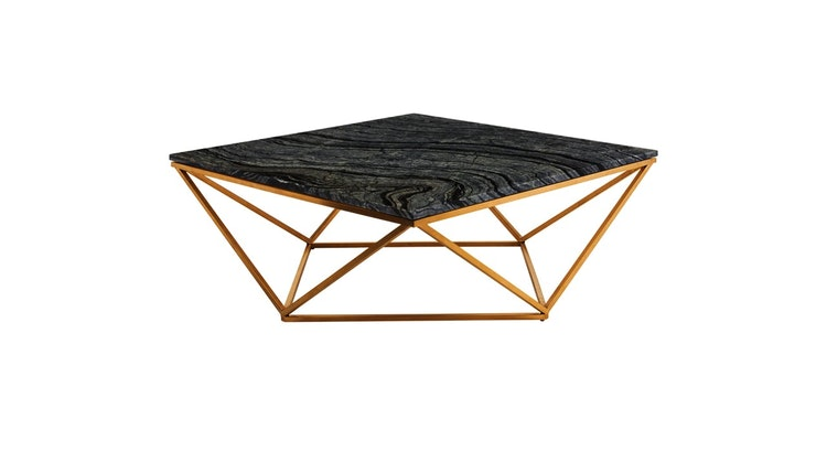Our Black Marble Coffee Table Is Drool Worthy!