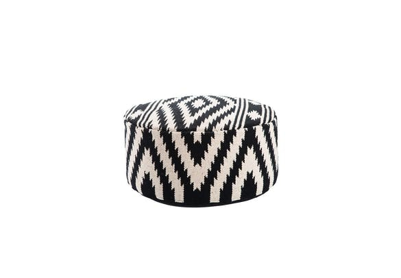 Our Black And White Pouf Is Adorable And Needs A Home!