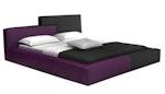 Modern Purple & Black Bonded Leather Bed