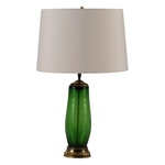 Hollywood Regency Style Glass Table Lamps, Set of 2