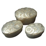 Capiz Shell Jewelry Boxes - Set of 3