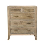 The Francesca Dresser Vintage Taupe [5 Drawer]