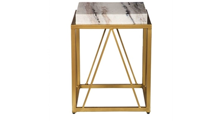 The White and Gold Accent Table Is So Stunning!