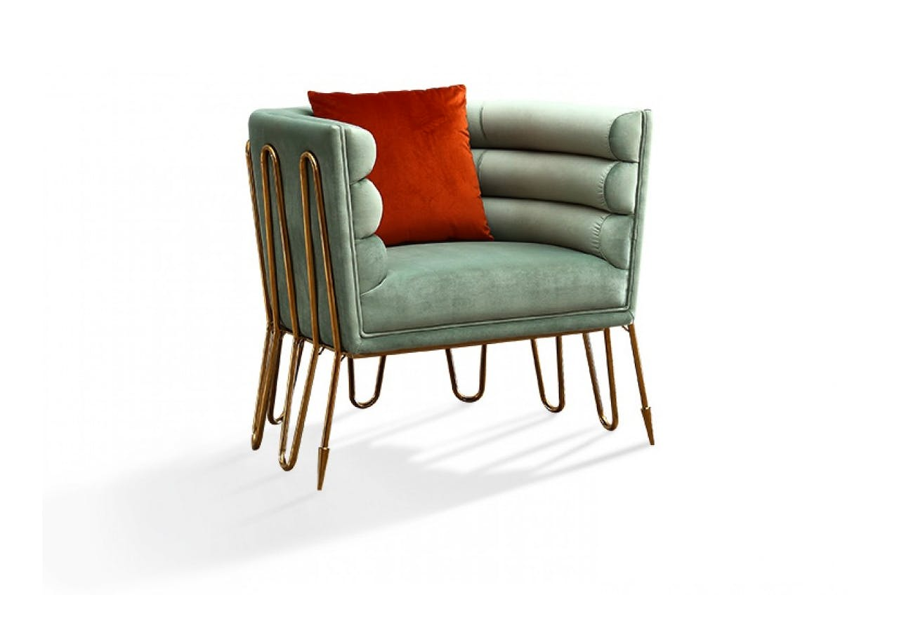 Awesome The Modern Light Green Gold Lounge Chair Nest Luxury Dailytribune Chair Design For Home Dailytribuneorg