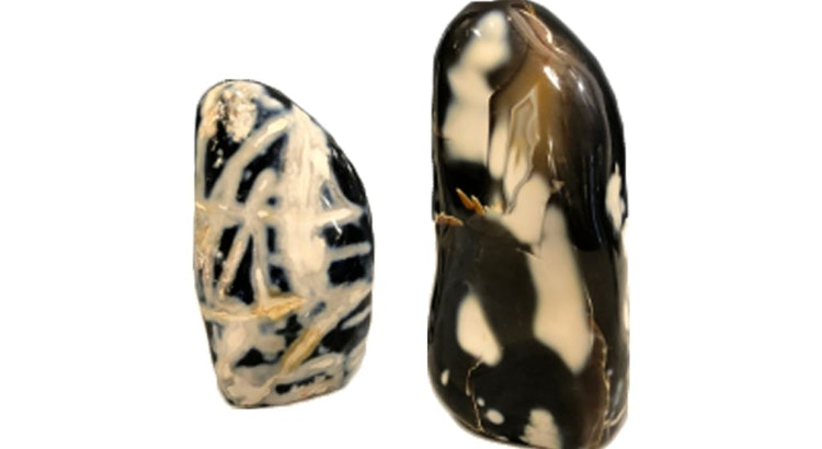 We Are Smitten With These Black and White Agates!