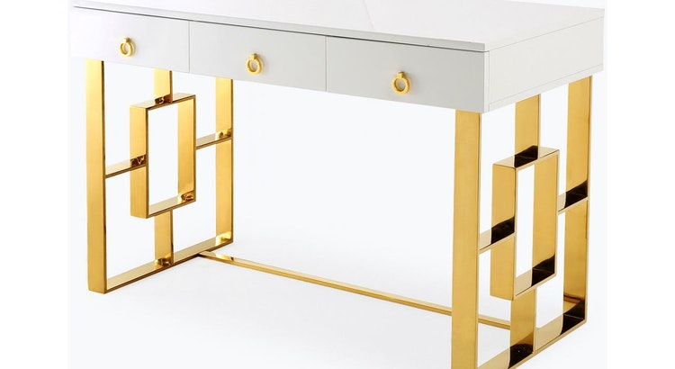 Our Pick of the Week: The Audrey White Lacquer Desk!