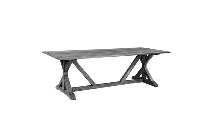 Take A Look At The Gray Finish Teak Table!