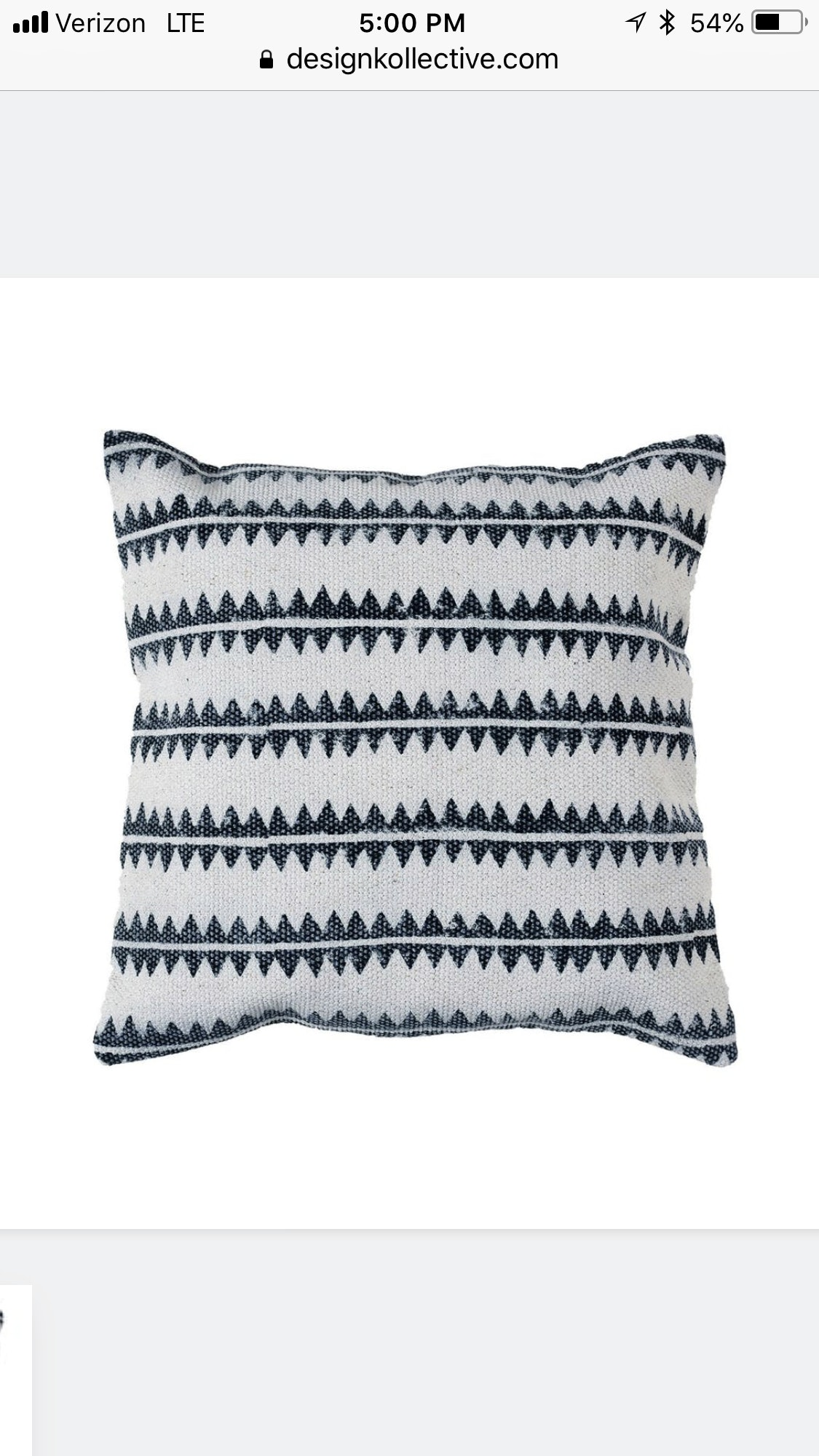 We Love The Block Print Sawtooth Pillow!